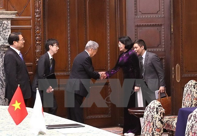 Vice President highlights fruitful parliamentary ties of Vietnam, Japan