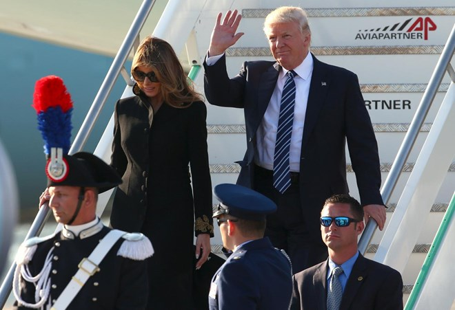 Donald Trump begins official visit to Italy