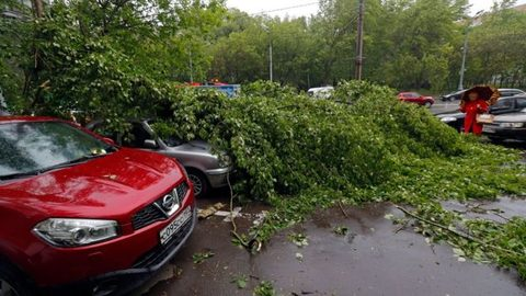 Storm hits Moscow, 14 killed