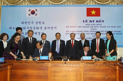Ho Chi Minh city and Korean province set up cooperation