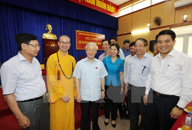 Party chief updates Hanoi voters on NA session's outcomes