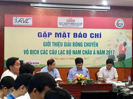 2017 Asia Men's Club Volleyball Championship to play in Nam Dinh, Ninh Binh provinces