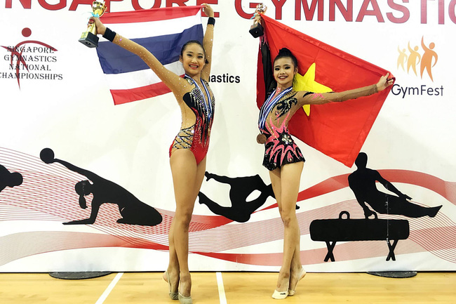 Nguyen Ha My wins gold, silver at 14th Singapore Open Gymnastics Championships