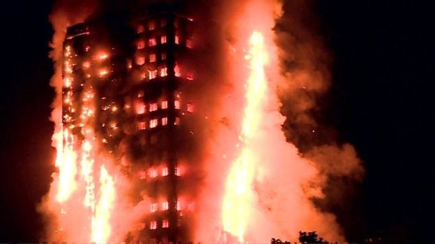 Huge blaze breaks out in 27-storey London tower