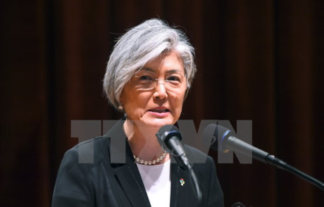 RoK Foreign Minister talks with Japanese counterpart