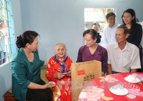 NA Chairwoman visits beneficiaries' families