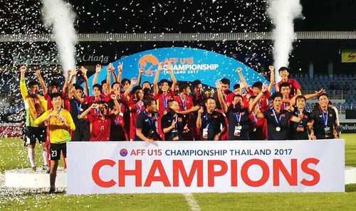 U15 national team receives VND400 million bonus