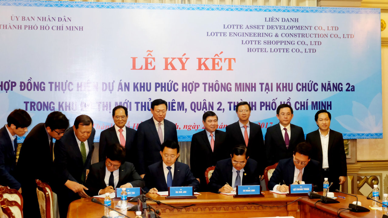Lotte Group pours VND20.1 trillion into Thu Thiem new urban area