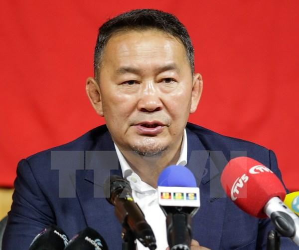 Khaltmaa Battulga sworn in as Mongolian President