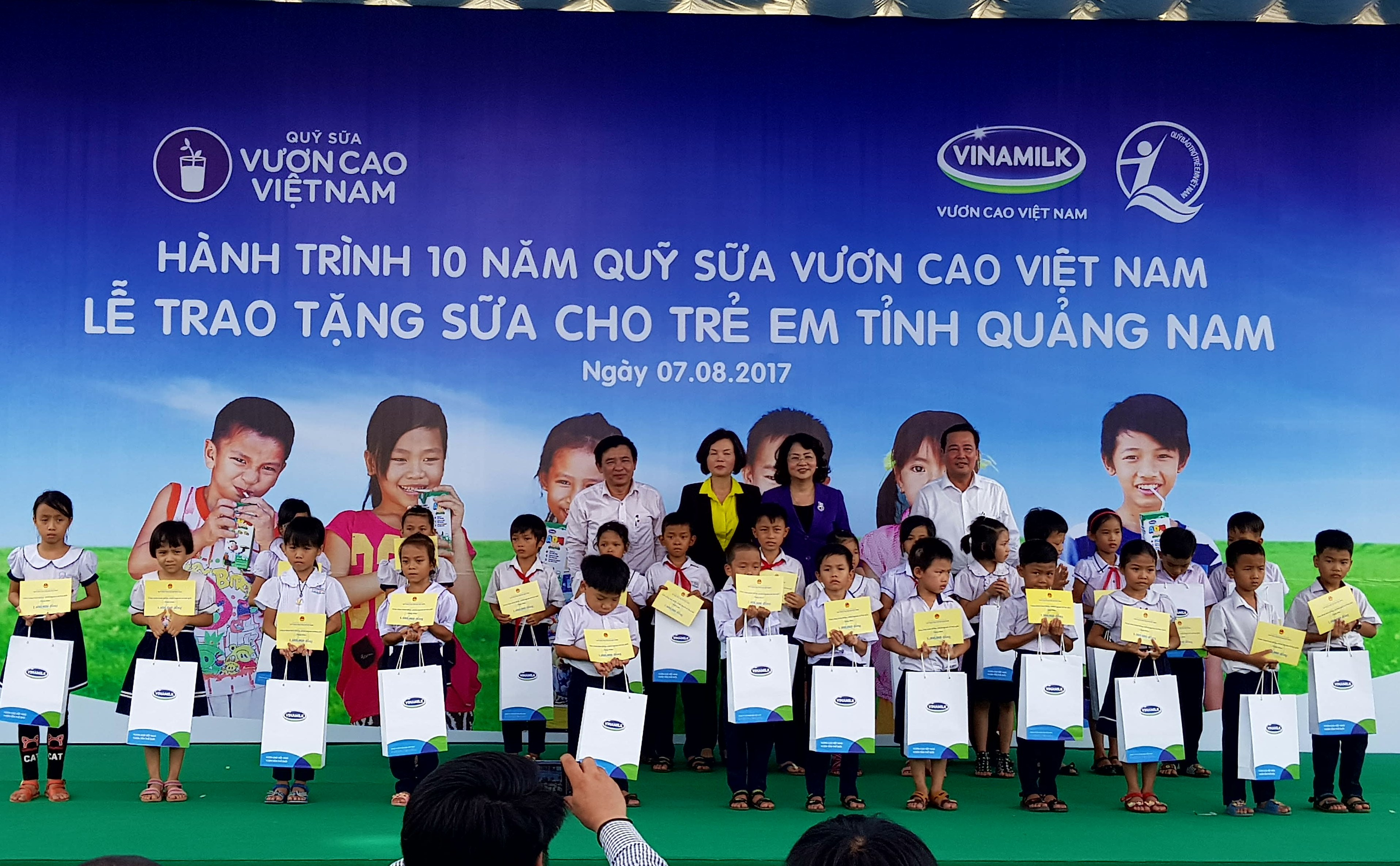 Over 46,000 servings of milk provided for children in Quang Nam province