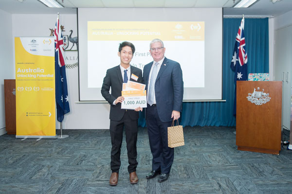 "Vo Truong Thinh wins ""Australia - Unlocking potential"" video competition"
