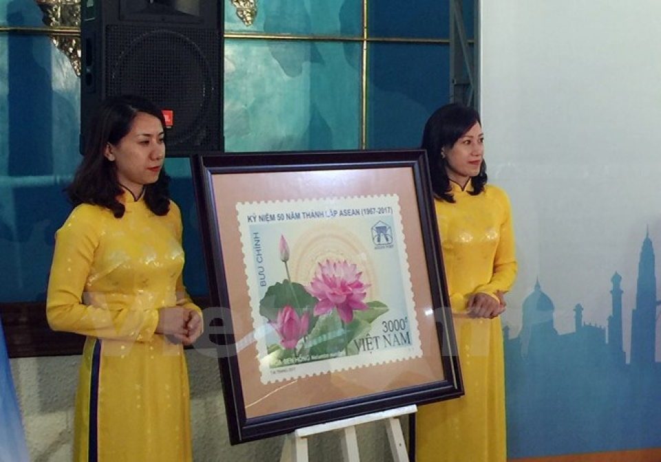 Stamp launched to mark 50th anniversary of ASEAN