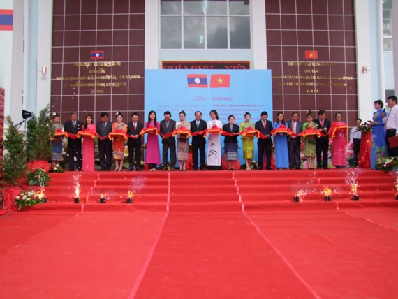 Photo exhibition on Vietnam - Laos relations launched in Laos