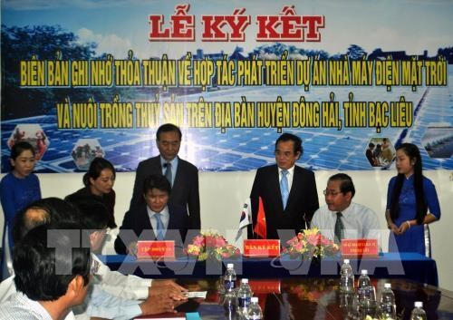 RoK's group to build 450-mln-USD solar power plant in Bac Lieu