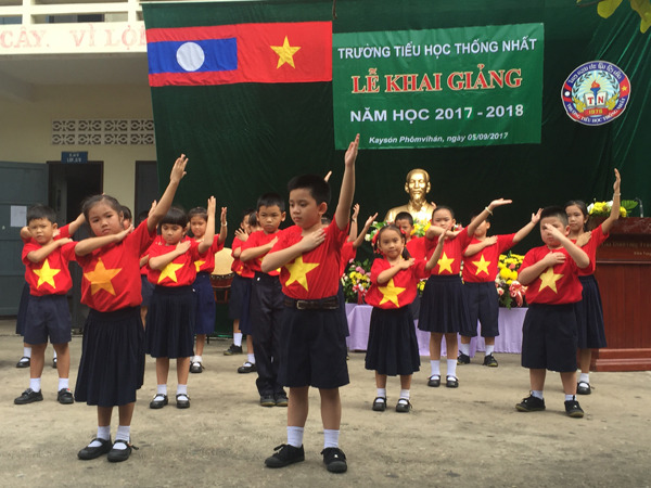 Schools of OV in Central Laos organize new school year opening ceremony