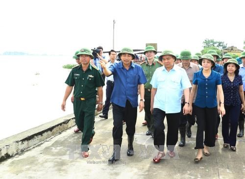 PM inspects flood response in Ninh Binh province