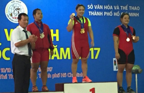 Hanoi (women's) and Ho Chi Minh city (men's) top the National Weightlifting Championship 2017