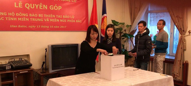 Vietnamese Embassy in Mongolia donates to support flood victims