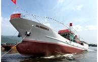Truong Sa MT.01 fishing logistic service ship launched in Da Nang