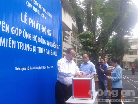 Ho Chi Minh city raises fund to support flood victims