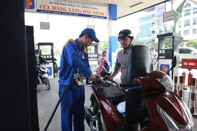 Petrol price falls slightly