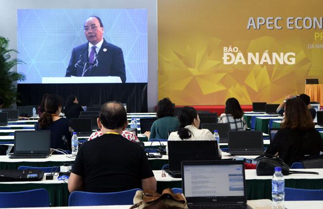 Work at APEC International Press Centre