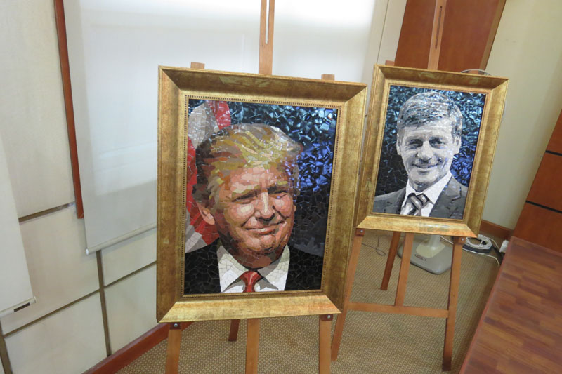 Portraits of APEC member economies' leaders on show