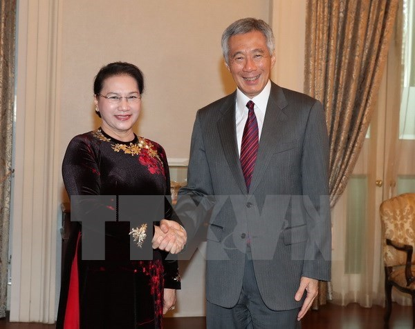 NA leader meets Singaporean PM