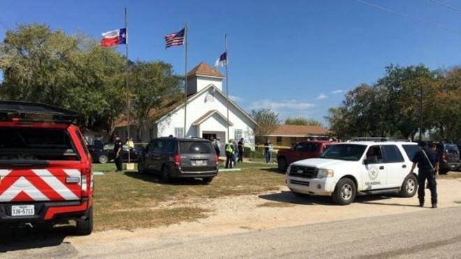 Texas church shooting leaves at least 27 people dead