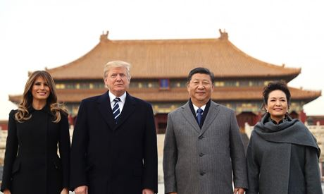 US President Donald Trump visits China