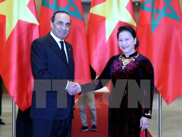 Vietnam, Morocco top legislators hold talk to boost ties
