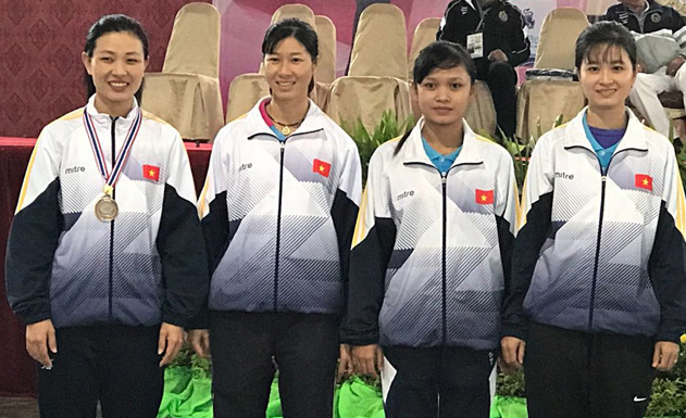 Vietnam finished third in 1st Asian Boules Sport Championships 2017