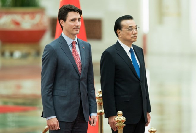 PM Justin Trudeau meets Premier of China