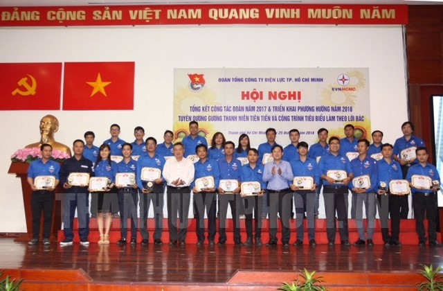 Power sector's youth honoured for following Uncle Ho's example