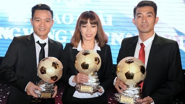 Thanh Trung, Kieu Trinh win Vietnamese Golden Ball 2017