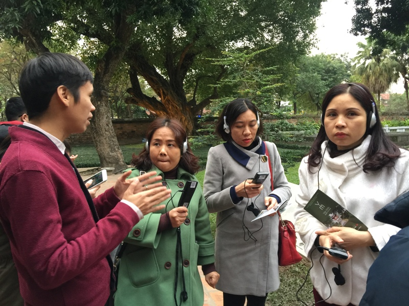Temple of Literature launches automatic audio guide system