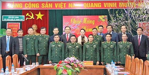 Top legislator pays Tet visit to border guards in Ha Giang