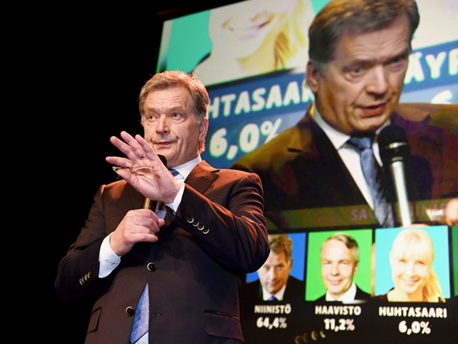 Finland's President Sauli Niinisto re-elected