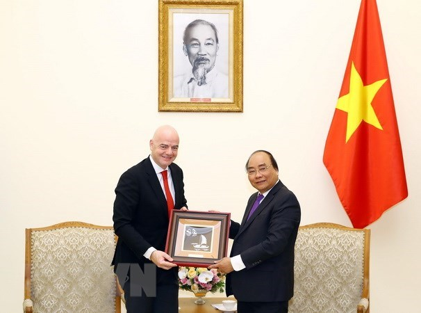 Prime Minister welcomes FIFA President