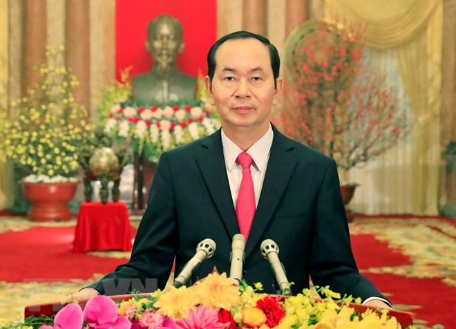 President Tran Dai Quang wishes Vietnamese a prosperous New Year