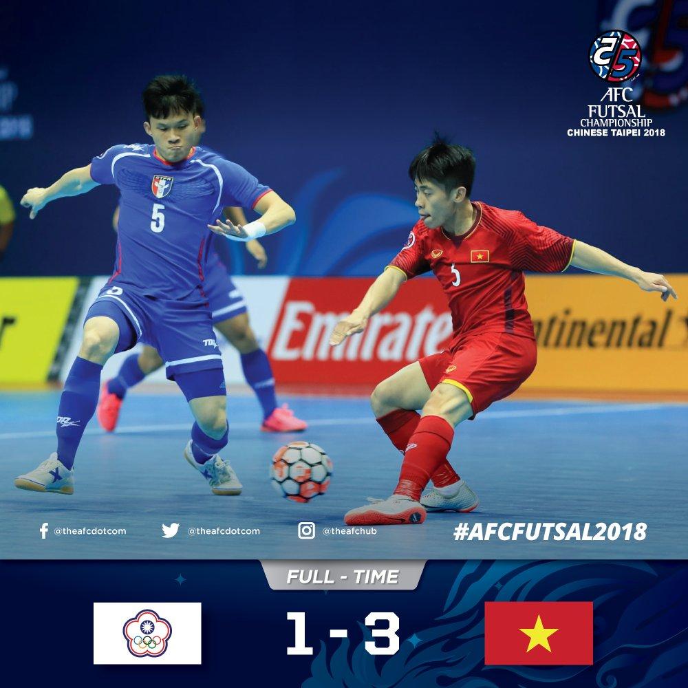 2018 AFC Futsal Championship (Group A): Vietnam enters quarter-finals
