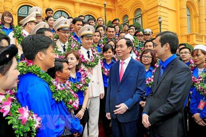 President stresses youngsters' role in national growth