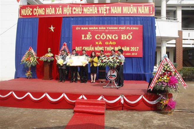 Gia Lai: Pleiku city fulfils new-style rural area building target