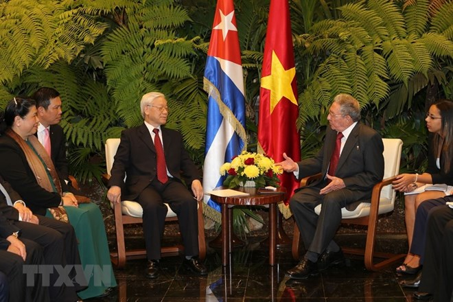 Vietnam, Cuba issue joint statement