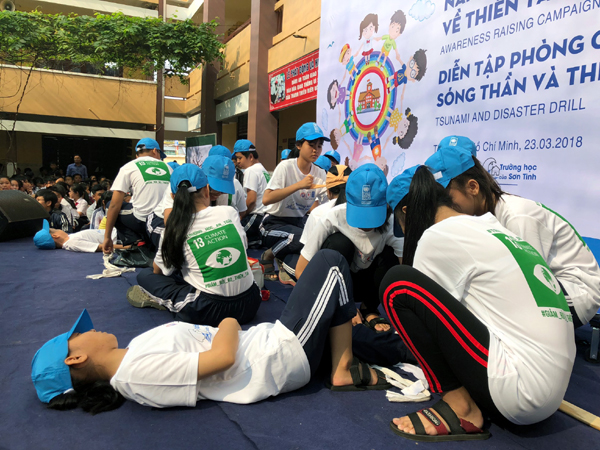 Students prepare for natural disasters in Ho Chi Minh city