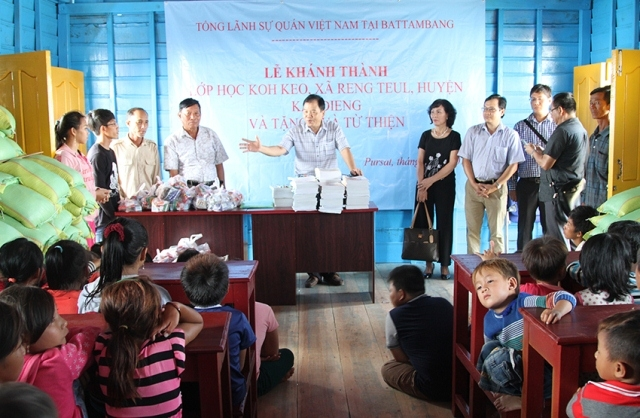 Floating school for overseas Vietnamese students inaugurated in Cambodia's Tonle Sap