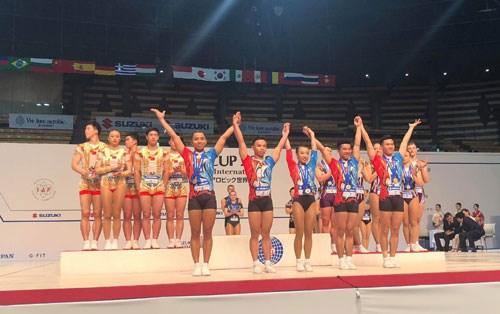 Vietnam wins three golds at Aerobics Suzuki World Cup