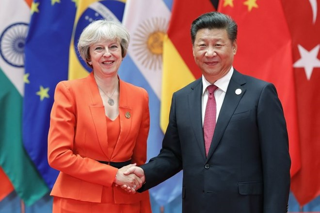 Chinese President Xi Jinping calls to UK PM Theresa May
