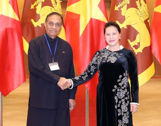 Vietnamese, Sri Lankan top legislators hold talks