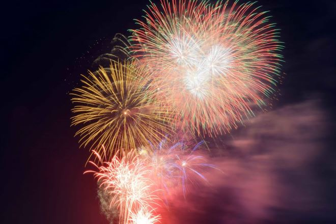 Fireworks show at two locations in HCM city on April 30th